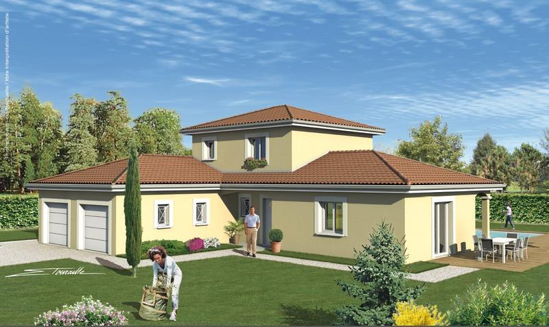 Modele maison 3 volumes 688 univia for Model de construction maison