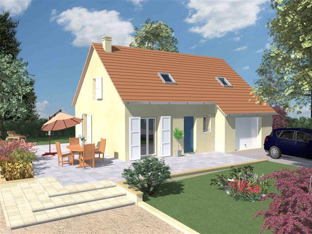 Modele maison maison tage combles am nag s 298 for Plan de maison avec combles amenages