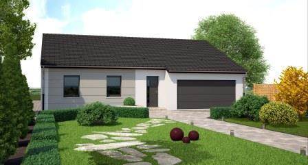 Costa construction modele maison plain pied 90m moselle for Modele de maison plain pied avec garage
