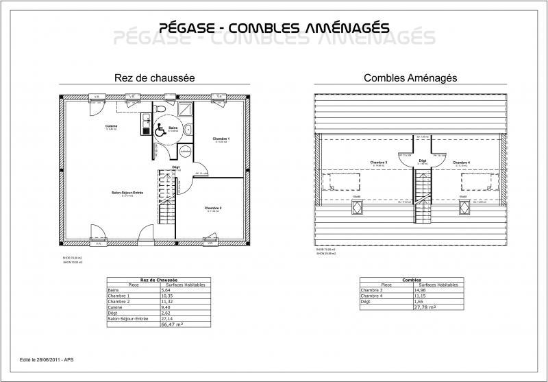 plan maison combles amenages - salle de bain combles amenagees solutions pour la